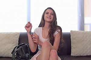 Castingcouch X Petite Alex Mae First Porn Fuck And Creampie