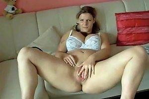Cute Chubby Teen Gf Spreading Her Big Pumper Pussy Lips